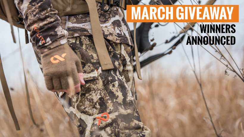First Lite hunting clothing giveaway winners