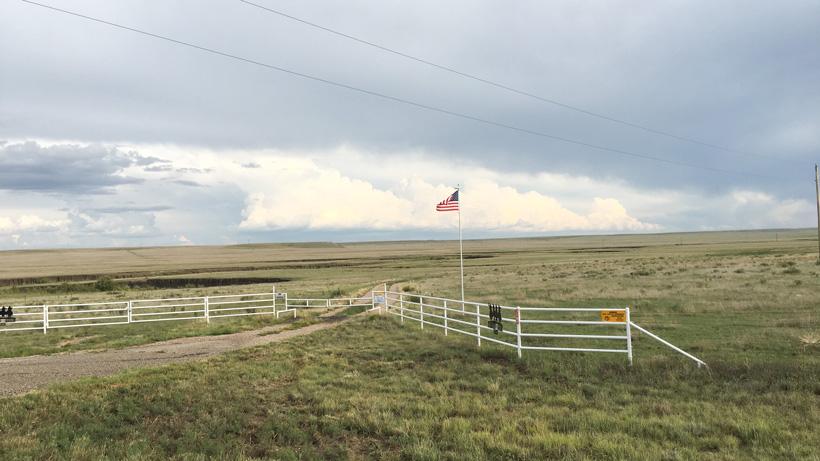 Flat New Mexico antelope terrain