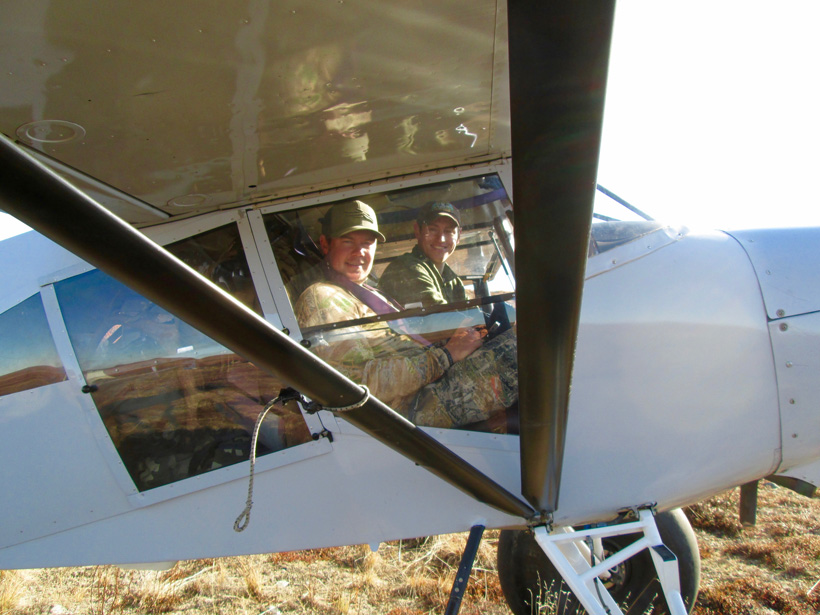 Flight to our caribou hunting camp in Alaska