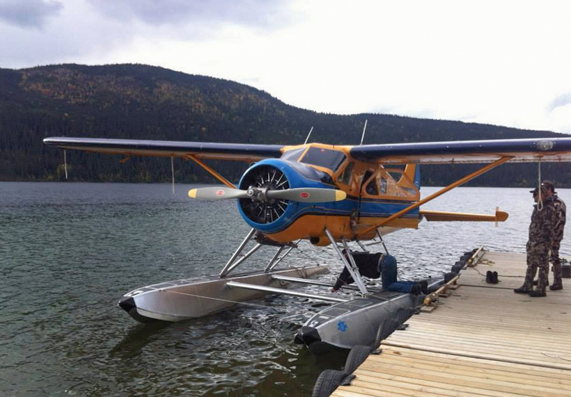 Gearing up for a flight in a float plane