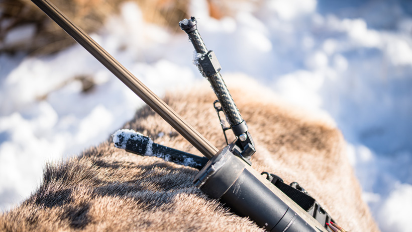Fluid bipod length when hunting