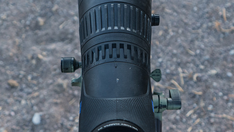 Focus and magnification on Zeiss spotting scope