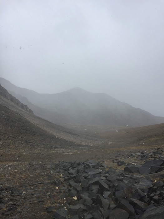 Fog and rain in the mountains
