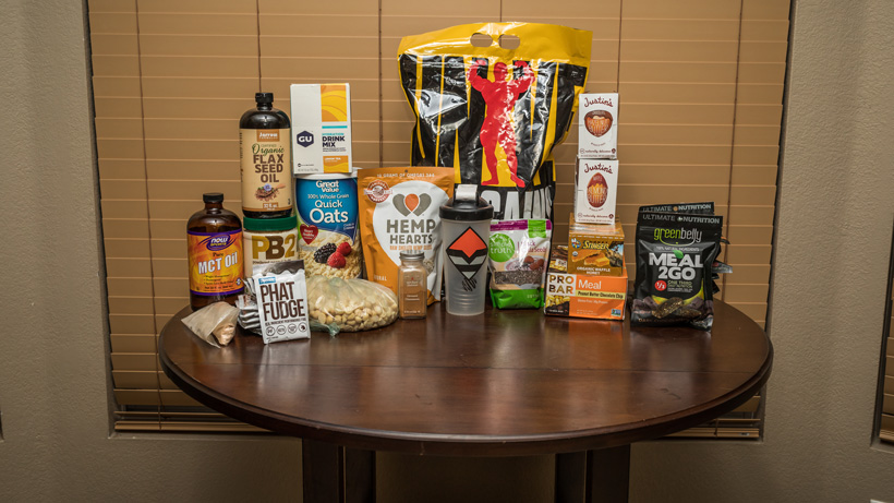 Food items used for the stoveless backcountry food list