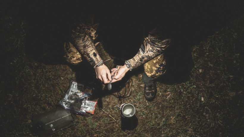 Fixing up your next meal in the backcountry