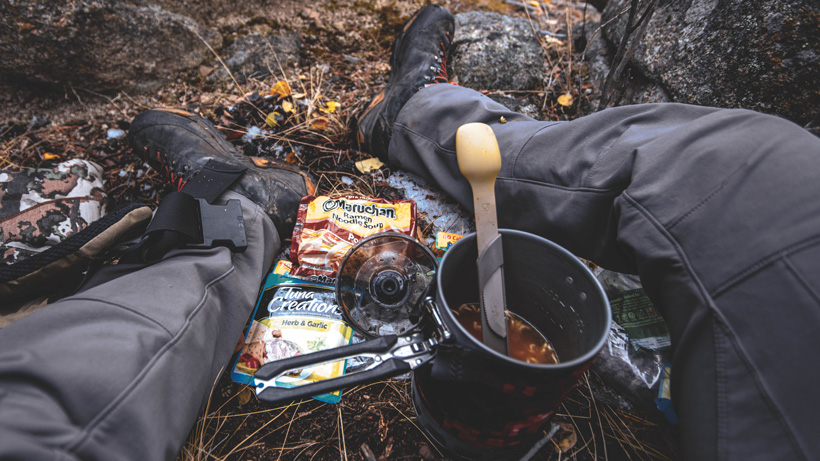 Food options in the field