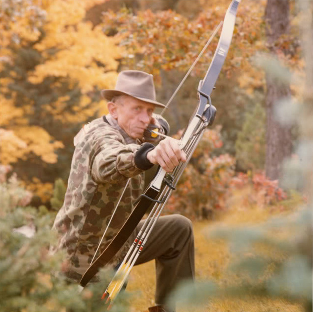 Fred Bear shooting bow