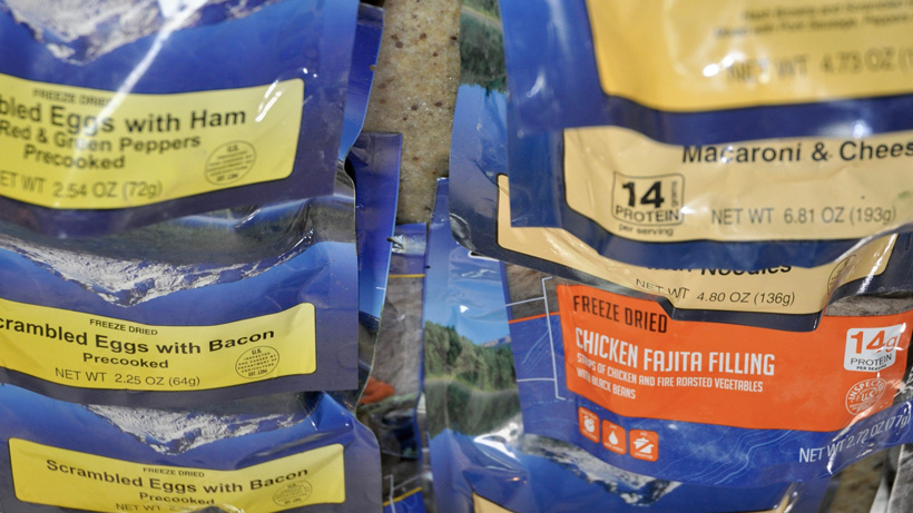 Freeze dried meals for elk hunting