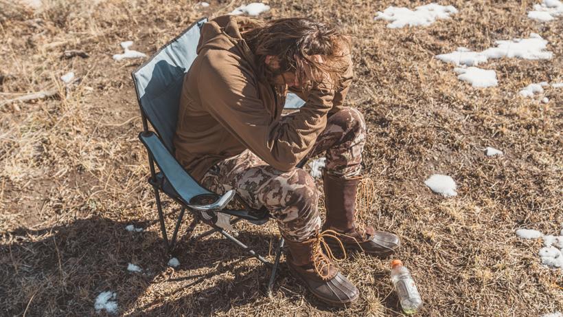 Frustrated look after hunting Colorado mule deer in 2019