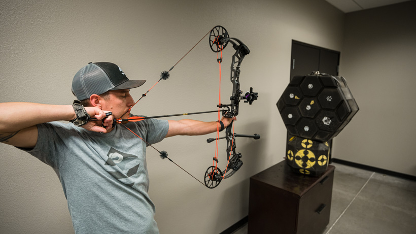 Full draw focus with Mathews Traverse