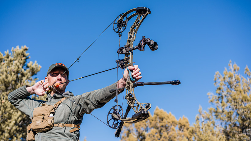 Full draw with Mathews VXR 31.5 bow