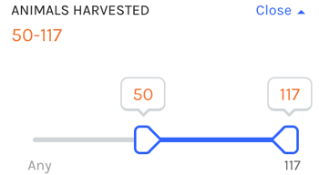 Further filter by number of bears harvested