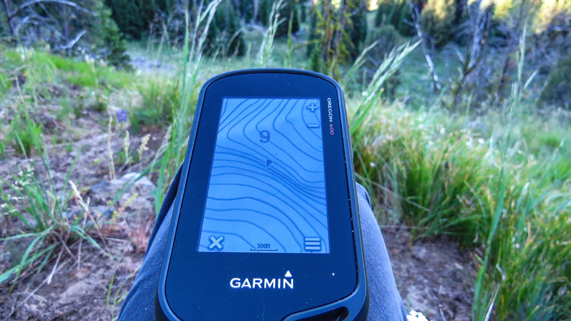 GPS while scouting for elk