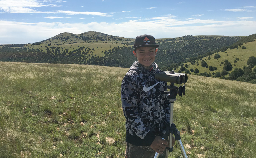 Gannon glassing for antelope bucks in New Mexico