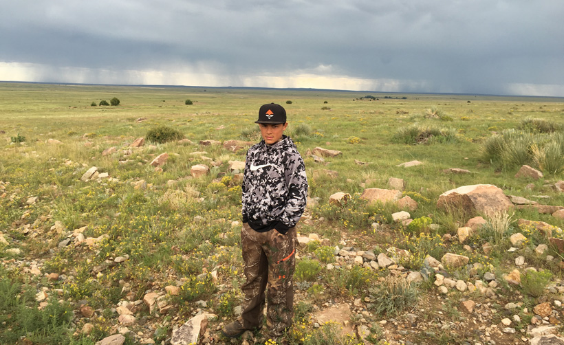 Gannon hunting for antelope in New Mexico