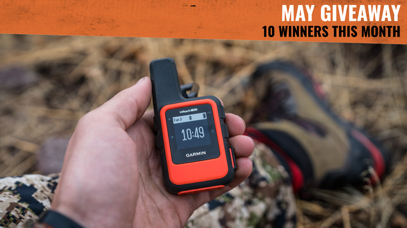 Garmin inReach Mini satellite messenger while hunting