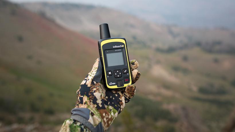 Garmin inReach device on a backcountry hunt