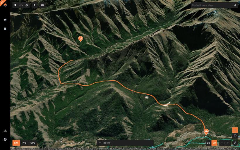 Gauging hiking distance for hunt
