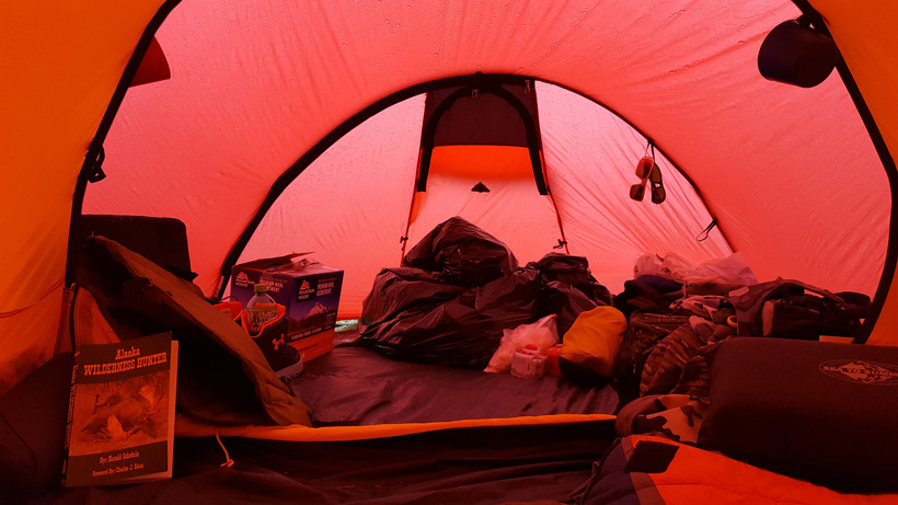 Gear section of the tent