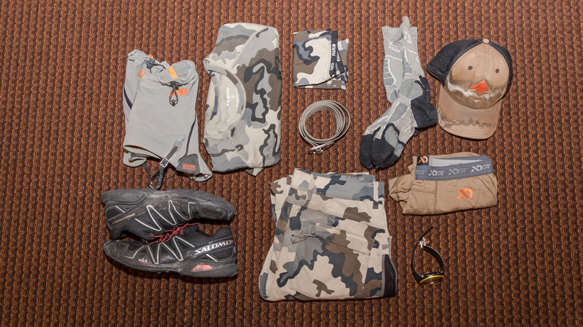 Gear worn for backcountry hunting
