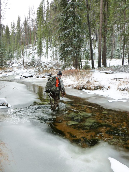 Getting away from the crowds hunting late season elk