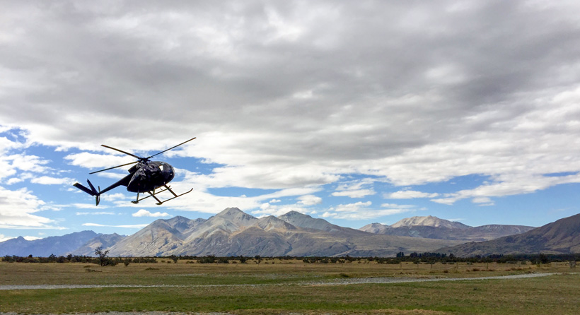 Getting ready to fly into the backcountry of New Zealand
