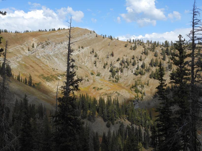 Giant Wyoming backcountry basin looking for mule deer