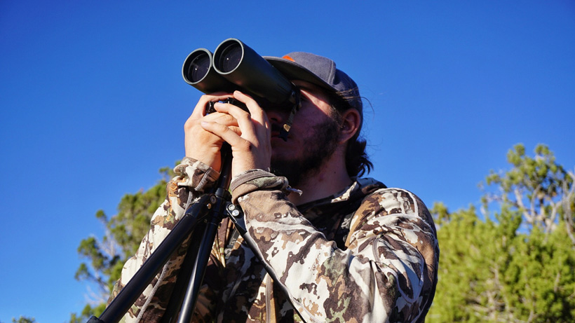 Glassing for Coues deer off tripod