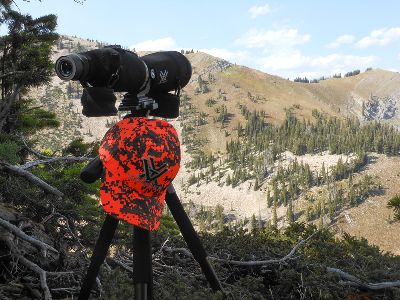 Glassing for Wyoming bucks with a spotting scope