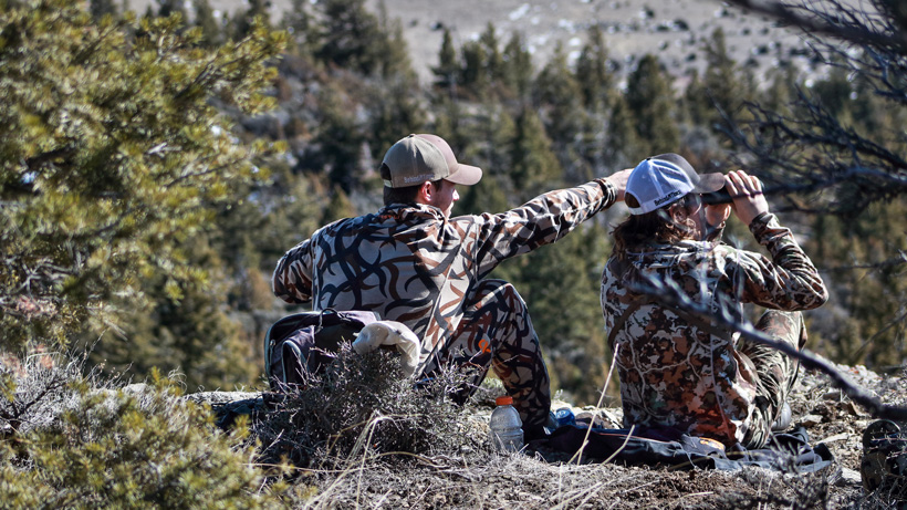 Glassing for animals with a great hunting partner