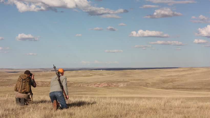 Glassing for antelope in Wyoming