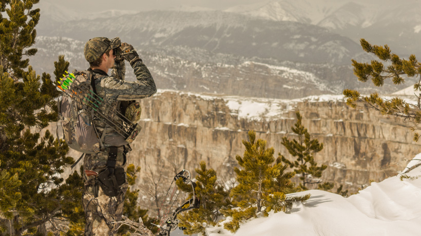 Glassing for black bears with sidearm grizzly protection