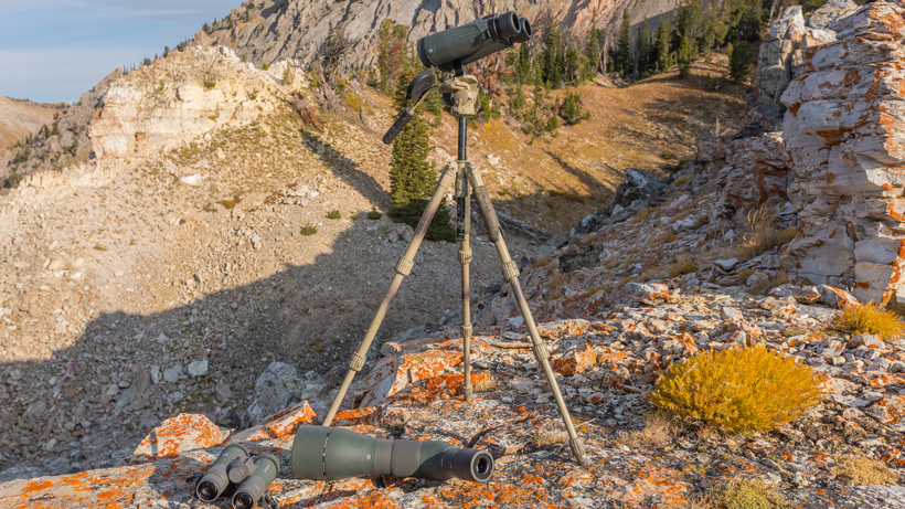 Glassing for deer with Slik pro 624 carbon fiber tripod