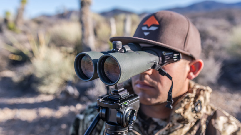 Glassing for deer with Vortex 12 power binoculars