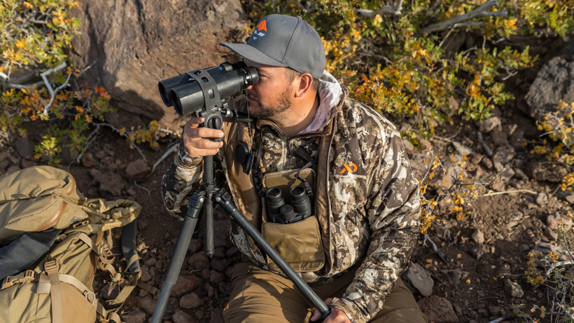 Glassing for deer with binos off tripod