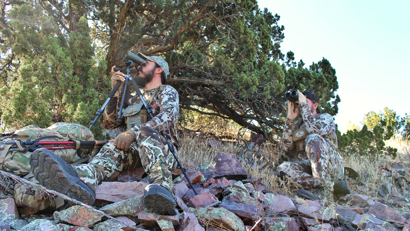 Glassing off a tripod for deer in Arizona