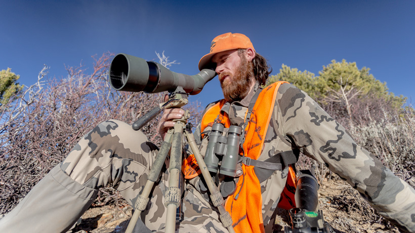 Glassing with an angled Vortex spotting scope