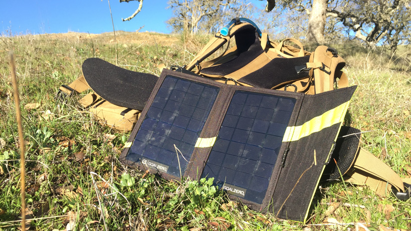 Goal Zero solar panel for hunting