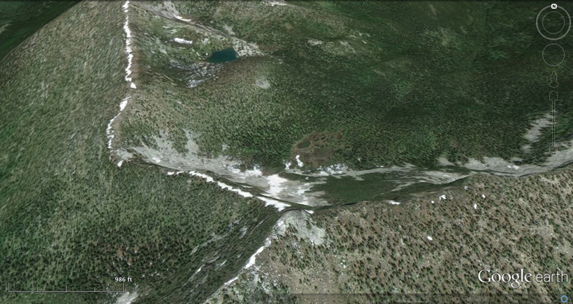 Google Earth image of scouting elk country
