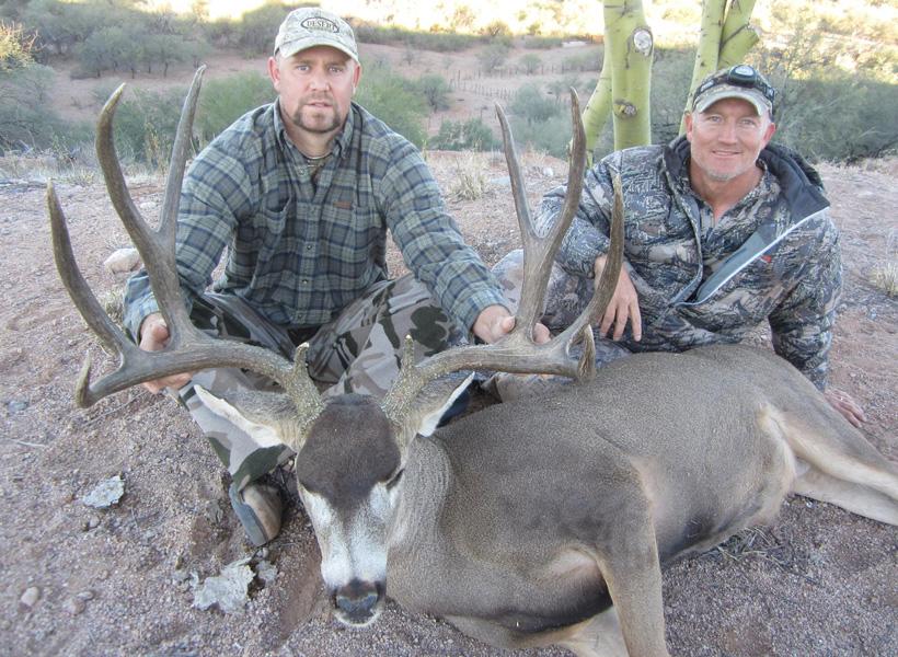 Greg Kroghs client with a giant mule deer buck