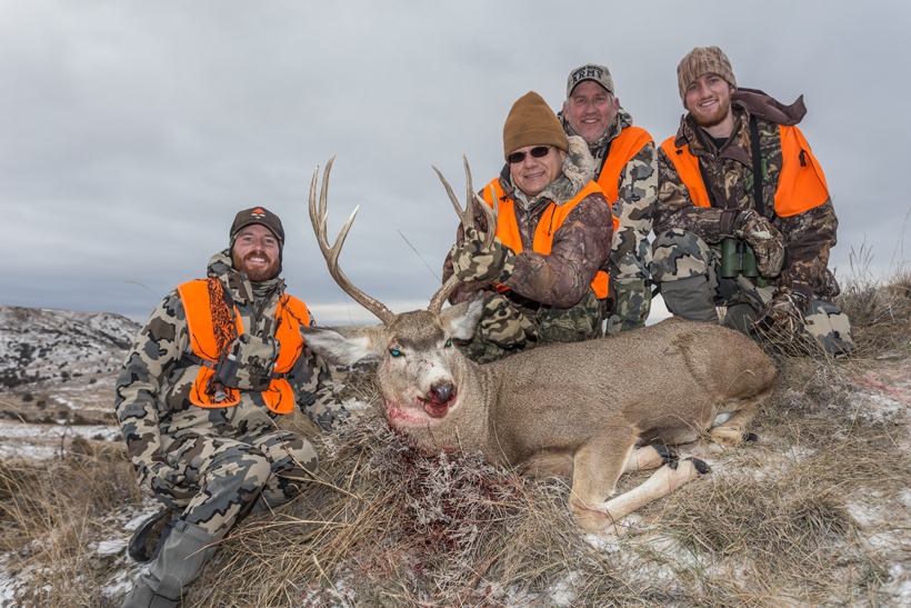 Group photo with Steve's buck