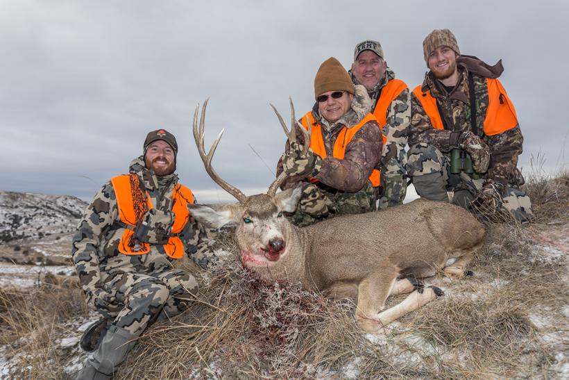 Group photo with Steve's buck