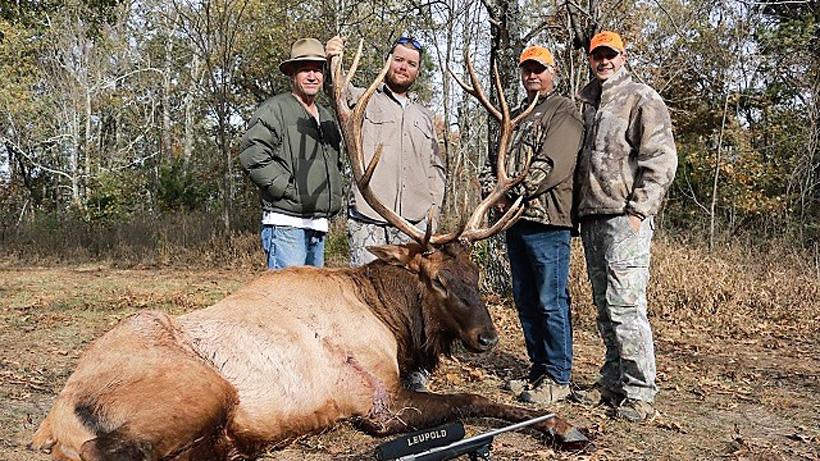 Group picture of Nick Turpin Arkansas bull elk