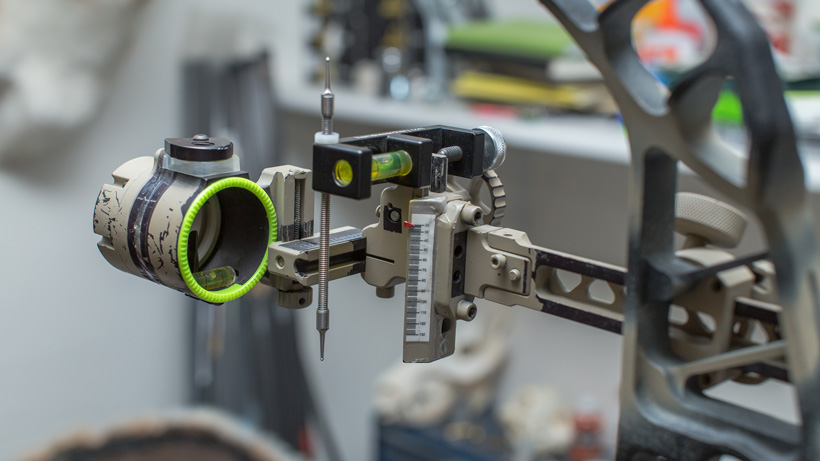 Hamskea third axis bow sight level