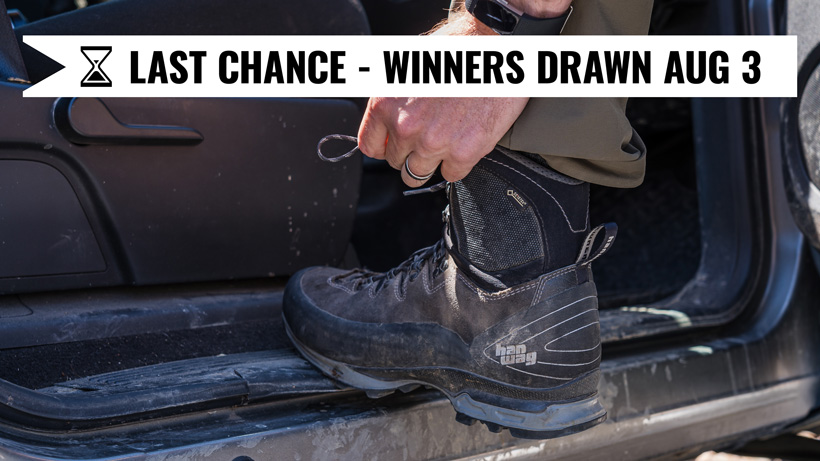 Hanwag boot giveaway last chance