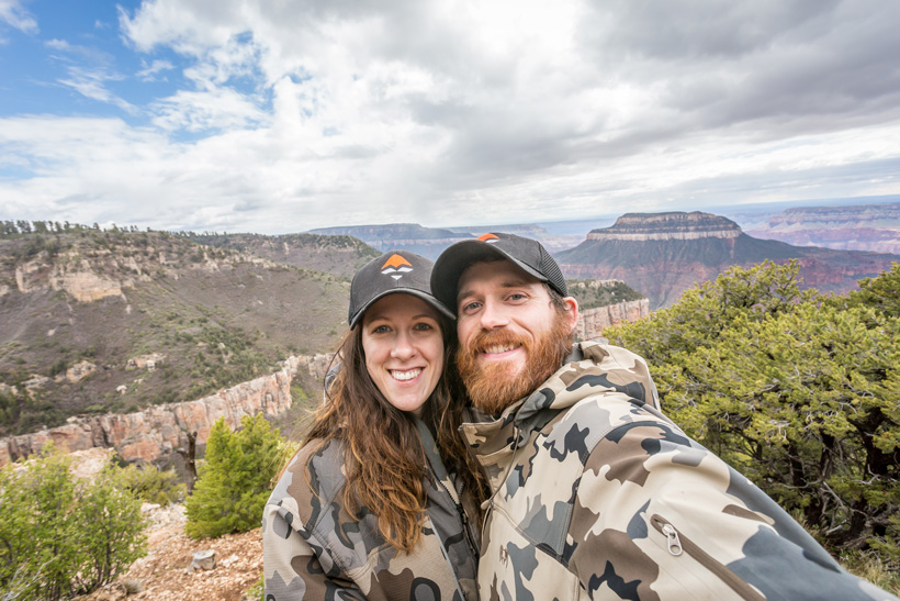 Hiking and date selfie photo