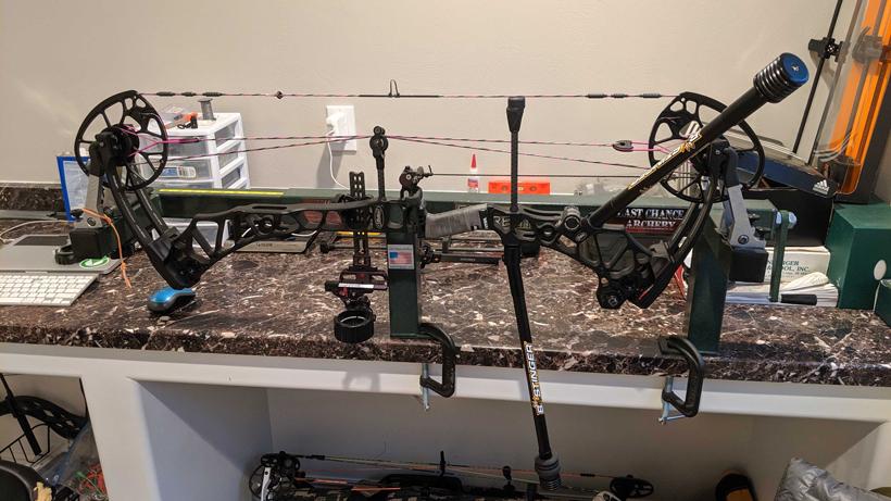 Home bow shop tuning Mathews VXR