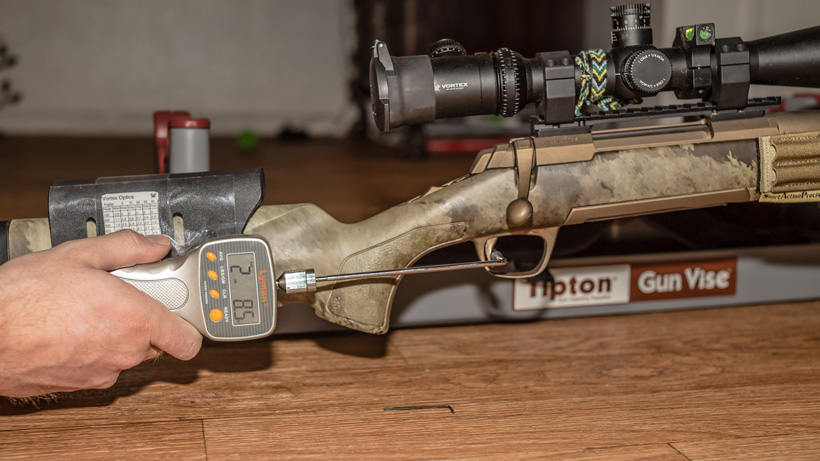 Adjusting the trigger pull on a factory rifle for increased