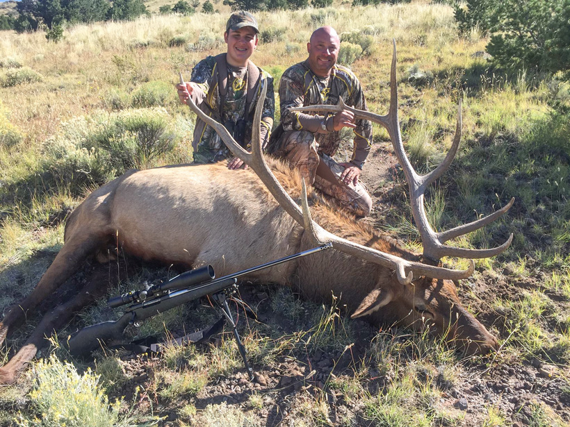 Hunter Agnetti with his New Mexico bull elk