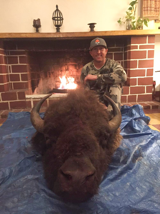 Hunter Haynes back at the ranch with his archery bison